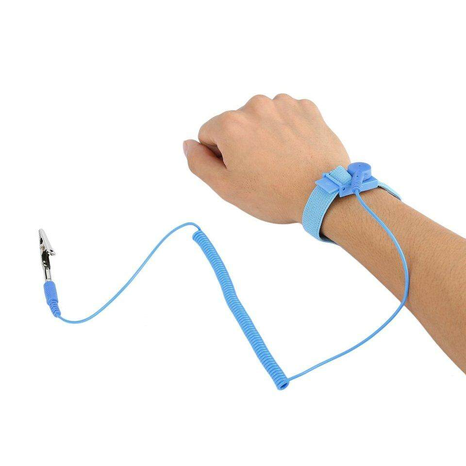 Smart Accessories Imported From Abroad Professional Anti-static Wrist Band Esd Adjustable Strap Antistatic Grounding Body Bracelet Wrist Band Wearable Devices