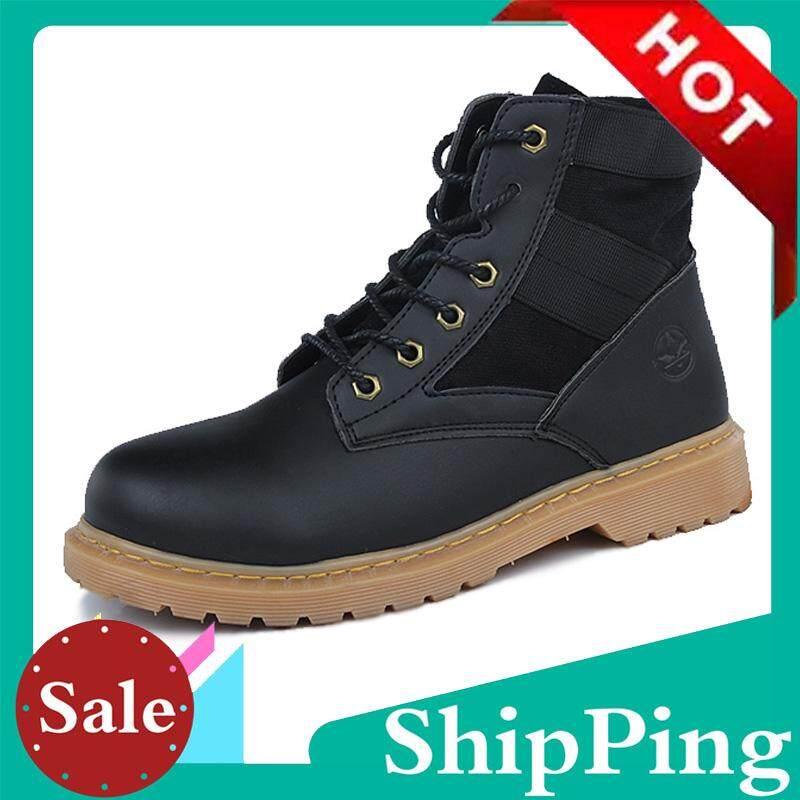 c74e834ab21609 Autumn Winter Men Boots Vintage Style Men Shoes Casual Fashion High-Cut  Lace-up