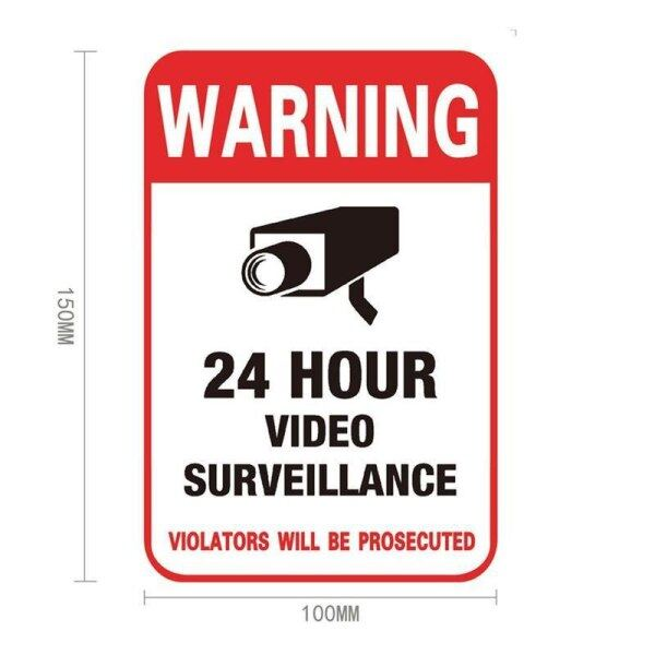 1pc Monitor Warning Sticker Camera Sticker Signage Warning And Safety Signs Cctv Video Surveillance Security Camera Sticker