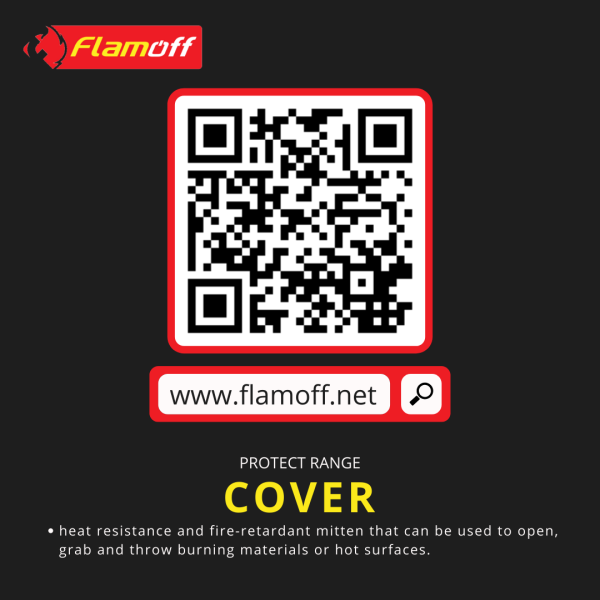 FLAMOFF Cover Fire Blanket For Home And Office Protection Use 1000°C
