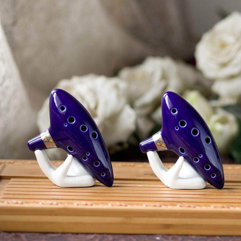 Hot Sale 12 Hole Midrange C Ocarina with Textbook, Display Stand, Protective Bag Stand Malaysia