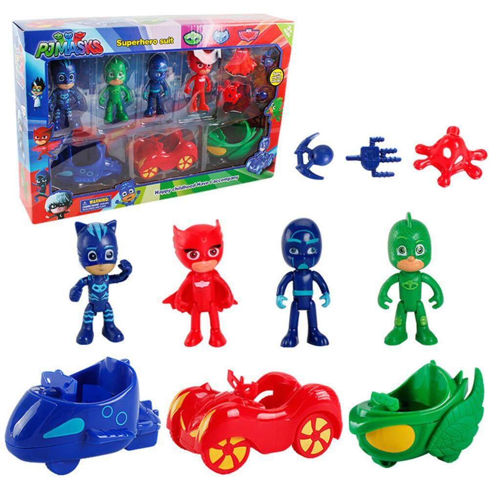 Lay 10 Pcs/set Pj Masks Toys Doll With Scooter Box Catboy Owlette Gekko Figure Toys By Lingzhuo Sue.
