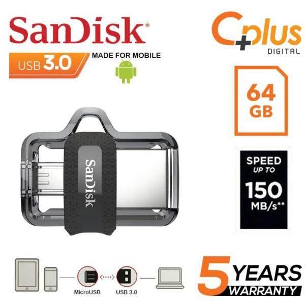 Giá Thẻ Nhớ sandisk Ultra Dual Drive 64 Gb M3.0 Otg Usb Đèn Led Cho android & Máy Tính (Sddd3-064G-G46)