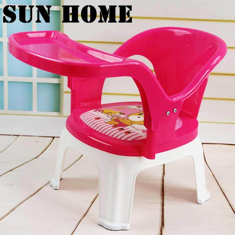 SUN HOME Chair plastic chair chair baby dining chair detachable plate child chair
