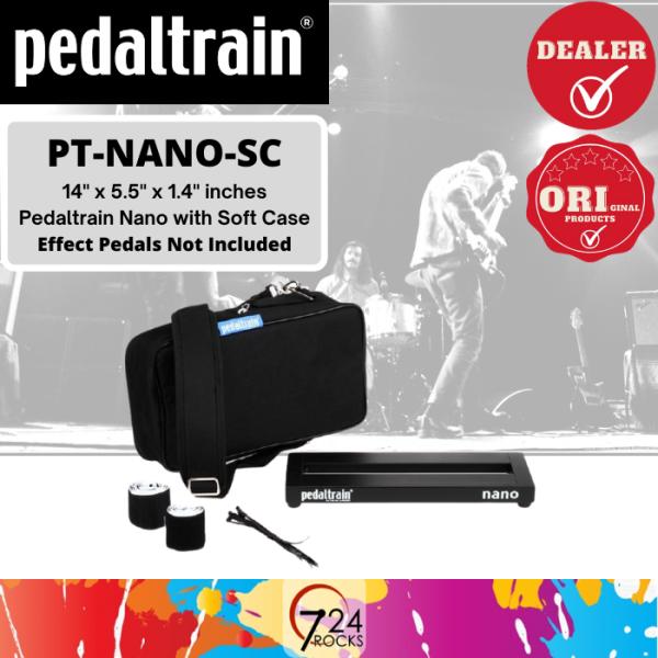 724 ROCKS Pedaltrain PT-NANO-SC Nano 14 x 5.5 Pedalboard with Soft Case / Pedal board Malaysia