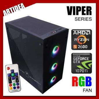 ARTIDEA 80G GHOST VIPER RYZEN GAMING PC ( Ryzen 5 2600 / AB350M MOBO / 8GB 2666MHz RAM / GTX 1070 Ti 8GB TWIN FAN / 120GB SSD / FSP 600W 80+ PSU )