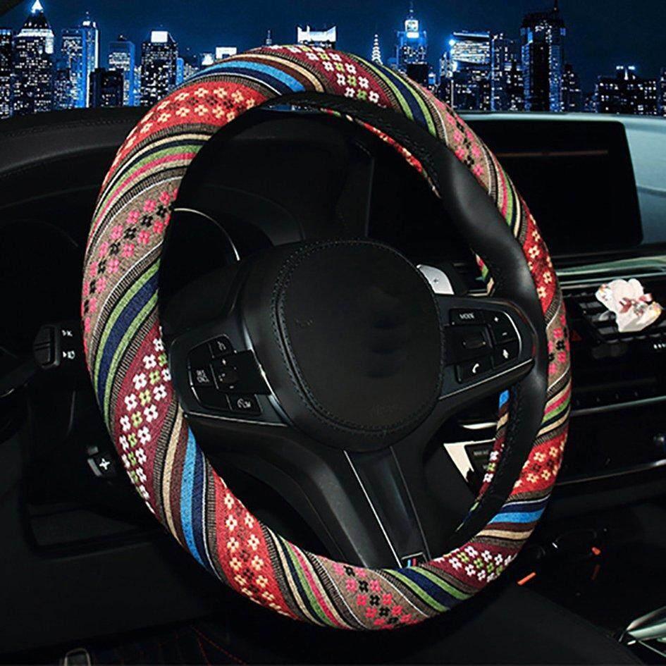 Top Seller Auto Steering Roda Gaya Etnik Pola Kendaraan Roda Kemudi Mobil Penutup By Gearray.