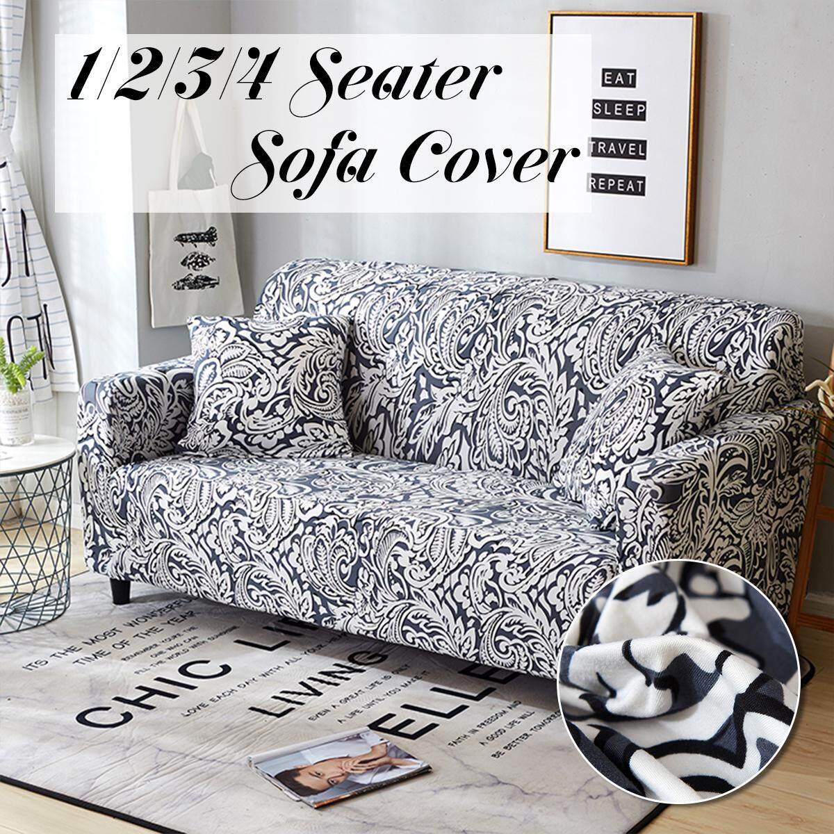 【Free Shipping + Flash Deal】1 Seater Home Soft Elastic Sofa Cover Easy Stretch Slipcover Protector Couch