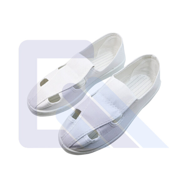 PVC outsole White Cleanroom esd Antistatic canvas safety shoes