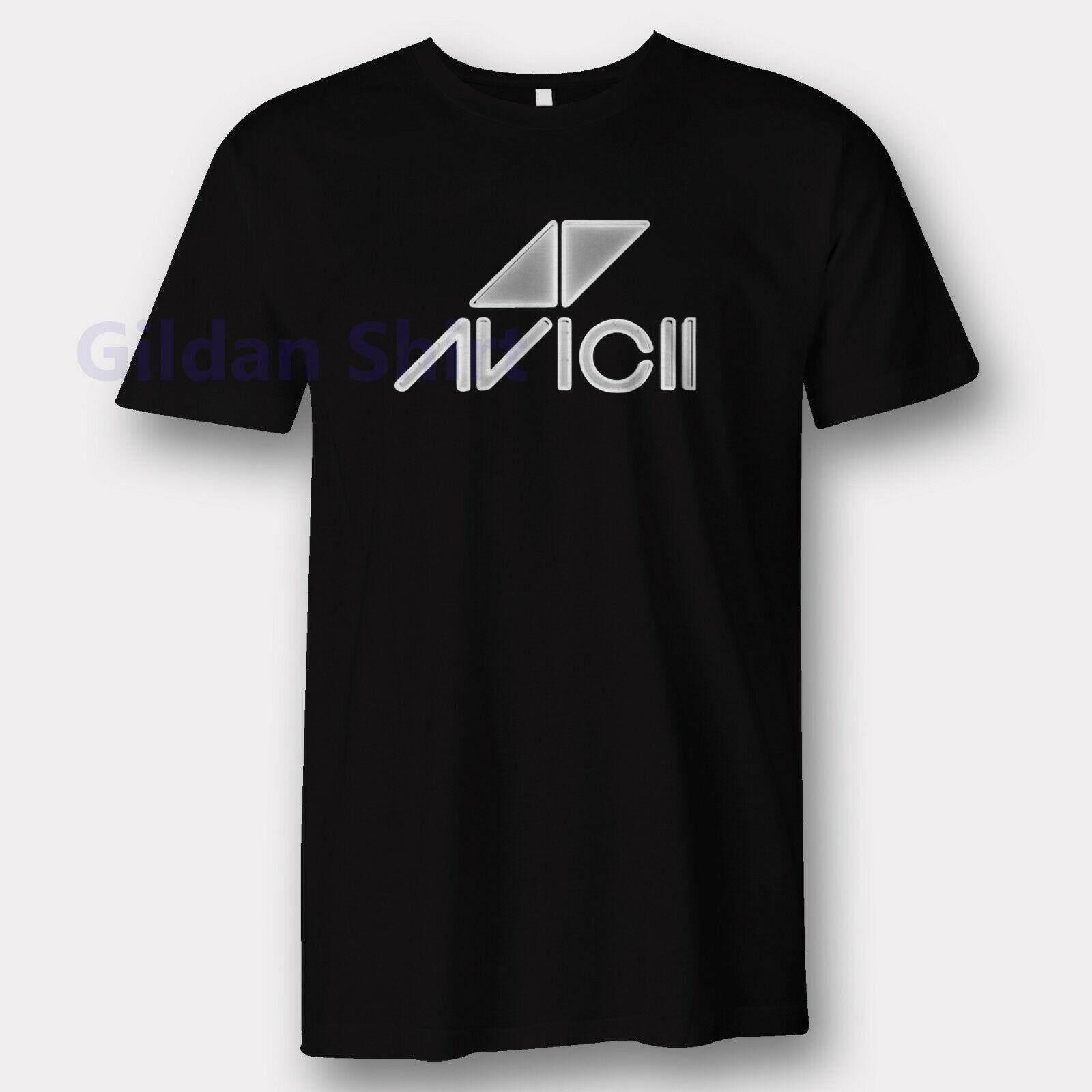 6e33be13 New men's t-shirt DJ Avici House Music Remix Tee Logo T Shirt