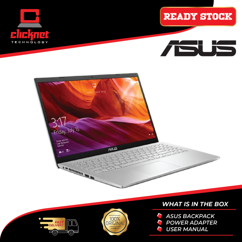 Asus Laptop M409D-ABV066T 14 Silver ( Ryzen R3-3200, 4GB, 512GB, ATI, W10 ) Malaysia