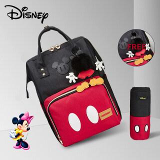 Balo đựng đồ trẻ em Disney dung tích lớn có móc cho xe đẩy, đi kèm túi giữ nhiệt màu đỏ BB0083 - INTL thumbnail