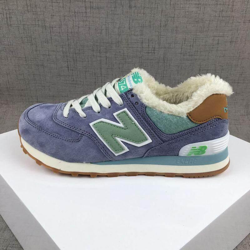 ยโสธร ส่งเร็วOriginal New Balance รองเท้า NB574 ผู้ชายรองเท้าผู้หญิงฤดูหนาวรองเท้าผ้าใบใส่วิ่ง