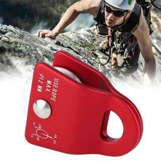 Miễn phí vận chuyển Ngoài Trời Kim Loại Carabiner Xuống Dốc Bên Ròng Rọc Tải Cho Leo Núi Leo Núi thumbnail