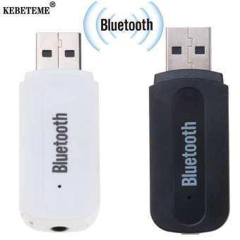 Kebeteme USB บลูทูธสเตอริโอเพลงเสียงรับ 3.5 มิลลิเมตรเสียงสเตอริโอเพื่อลำโพงกล่องเสียงอะแดปเตอร์ชุดอุปกรณ์ติดรถยนต์ dongle สำหรับรถโทรศัพท์บ้าน DVD PC ลำโพงหูฟัง MP3