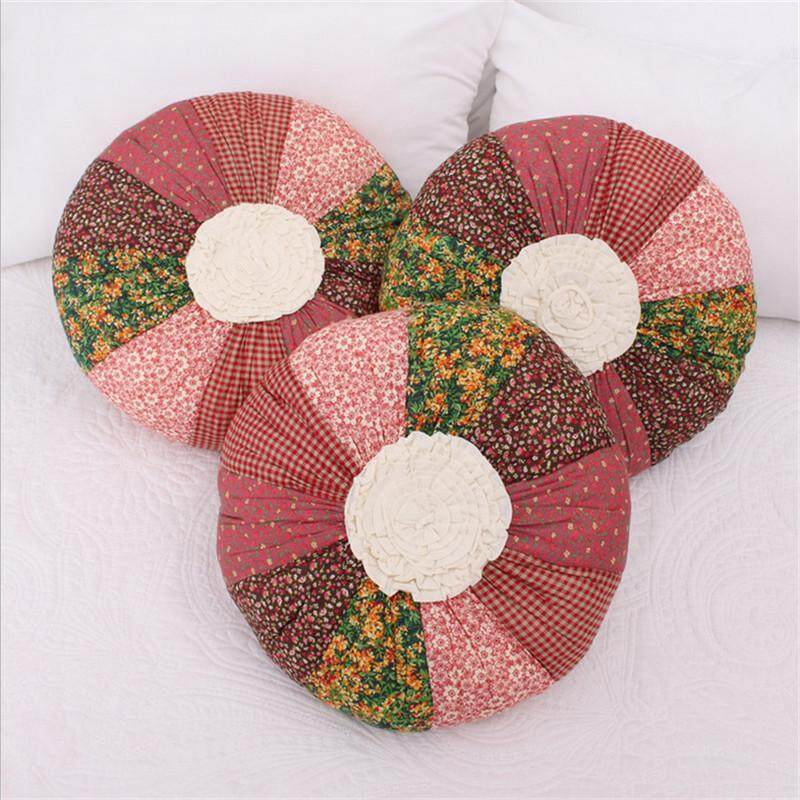 100% Cotton Pink Flower Mermaid Pumpkin Dream Butterfly Happy Summer Princess Cake Embroidery Girl Pillow Cushion