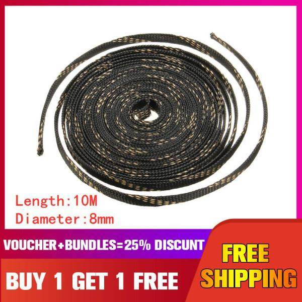 10mx8mm PET Cable Management Organizer Braided Sleeving Expandable for Home Automotive Marine Industrial Wire Cable Sheathing -