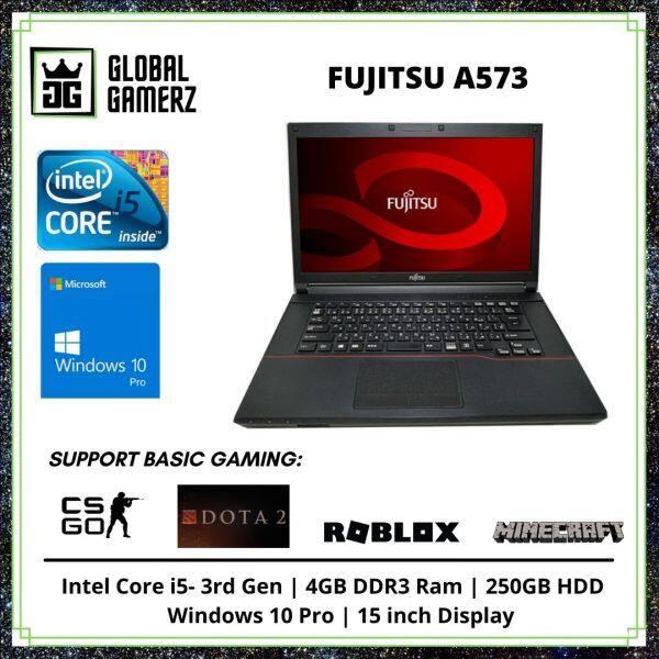 Fujitsu Lifebook A573 / 15 inch Display / SSD / 4GB Ram / Intel Core i5 / Windows 10 Gaming Refurbished Laptop Malaysia