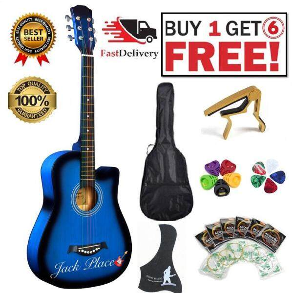 (Local Ready Stock Fast Delivery) Upgrated High Quality Acoustic Guitar 38 inch , Value For Money , Buy 1 FREE 6 Malaysia