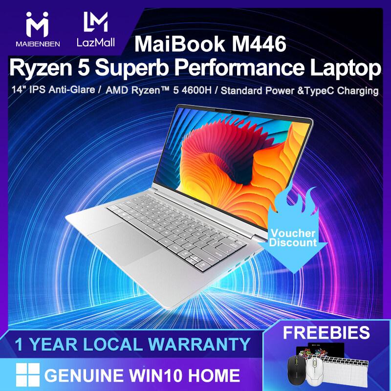 [Local Warranty] MAIBENBEN Laptops Maibook M446 Laptop 14 Inch AAS Anti-Glare Full HD / AMD Ryzen 5 4600H / AMD Radeon Graphics / DDR4 3200MHZ RAM / PCI-E SSD / WIFI 6 / Genuine Windows 10 2020 New Arrivals Free Shipping Malaysia