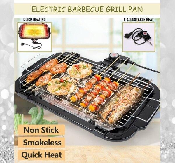 Electronic BBQ grill Barbeque Pan smokeless electric pan electric barbecue grill /BBQ Grill Pemanggang Satay Elektrik Barbecue Grill Teppanyaki