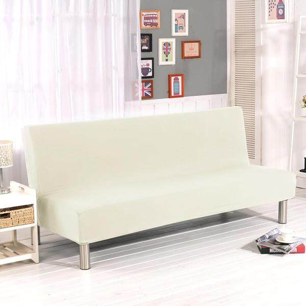 PUhao  Solid Color All-inclusive Folding Stretch Sofa Bed Sofa Cover Protector Slipcover without Armrests