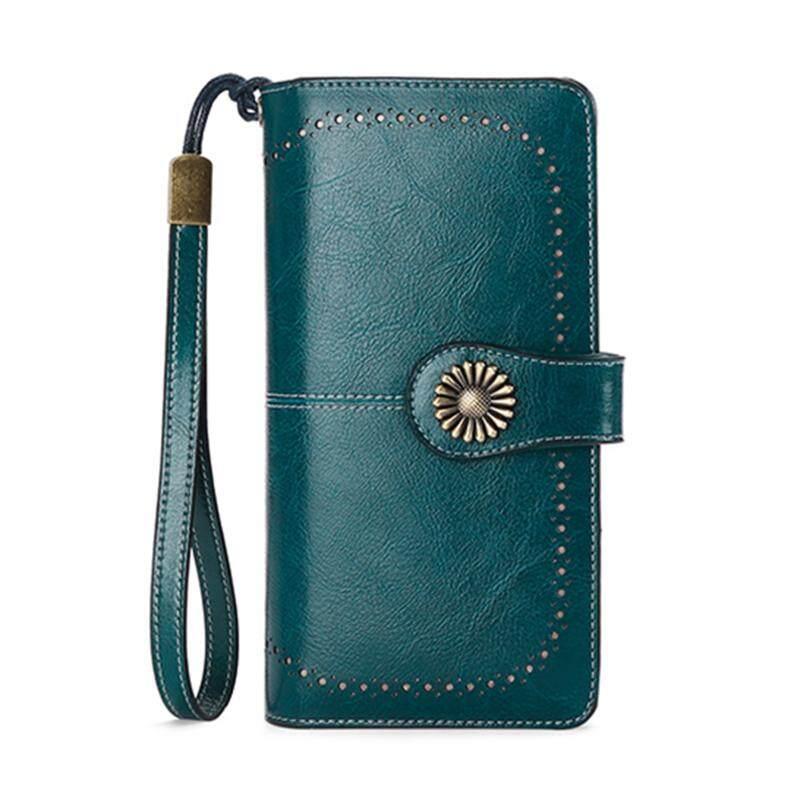 ec3377b9f846 Sendefn Women Clutch Leather Wallet Female Long Wallet Women Zipper Purse  Strap Money Bag Purse For