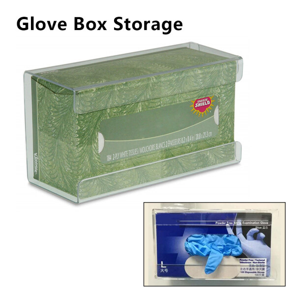 PER Glove Box Storage Labor Insurance Gloves Display Box Medical Tissue Box Acrylic Glove Dispenser Wall Mountable Tissue Box Holder for Doctors Offices, Hotels, Schools, Home