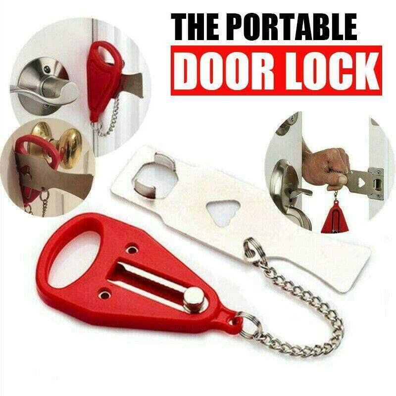 Portable Door Lock Hardware Security Tool Security Lock for Travel Hotel Home