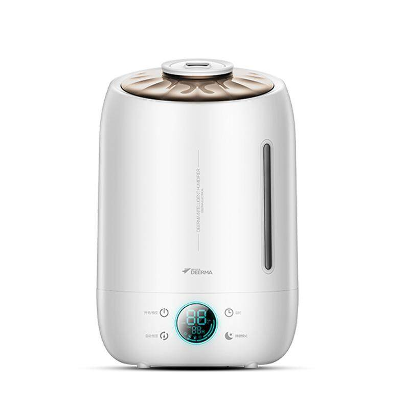 Deerma 5L Shell Air Humidifier, 2 In 1 Essential Oil Diffuser & Air Purifier with Safety Auto-Off Mode with LED Digital Screen Singapore