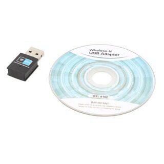 Anxinshui Bộ Chuyển Đổi USB WiFi Không Dây Mini 300Mbps, Dongle Thẻ Mạng LAN 802.11 B G N thumbnail