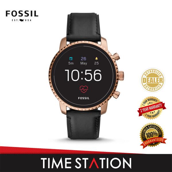 Fossil Explorist Gen 4 HR Black Leather Mens Smart watch FTW4017 Malaysia