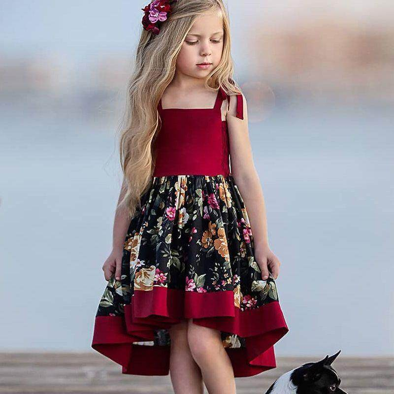 6264eec4ca84c Princess Dress For Girl Sleeveless Baby Clothes Travel Dresses Bohemian  Baby Dress Summer Kids Girl Dresses
