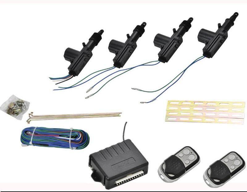 Auto Car Remote Central Locking 2/2 Car Alarm System Security Kit Remote 4 Door Keyless Entry System 360 Degree Rotation Car kit DHKJ Store