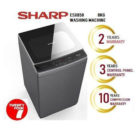 SHARP 8KG TOP LOAD WASHER FULLY AUTO ESX858