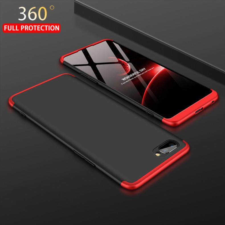 For OPPO A3S 360° Full Protection 3 in 1 Ultra Slim Hard Plastic Phone Case