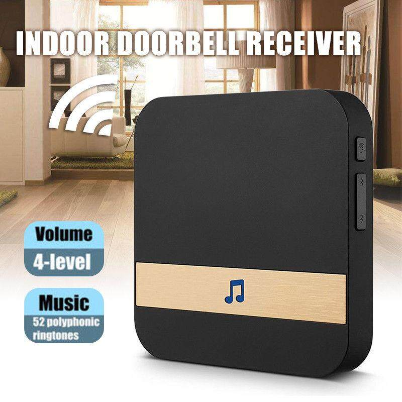 Home 52-Tunes Chime Ding Dong Wireless WiFi Door Bell Receiver
