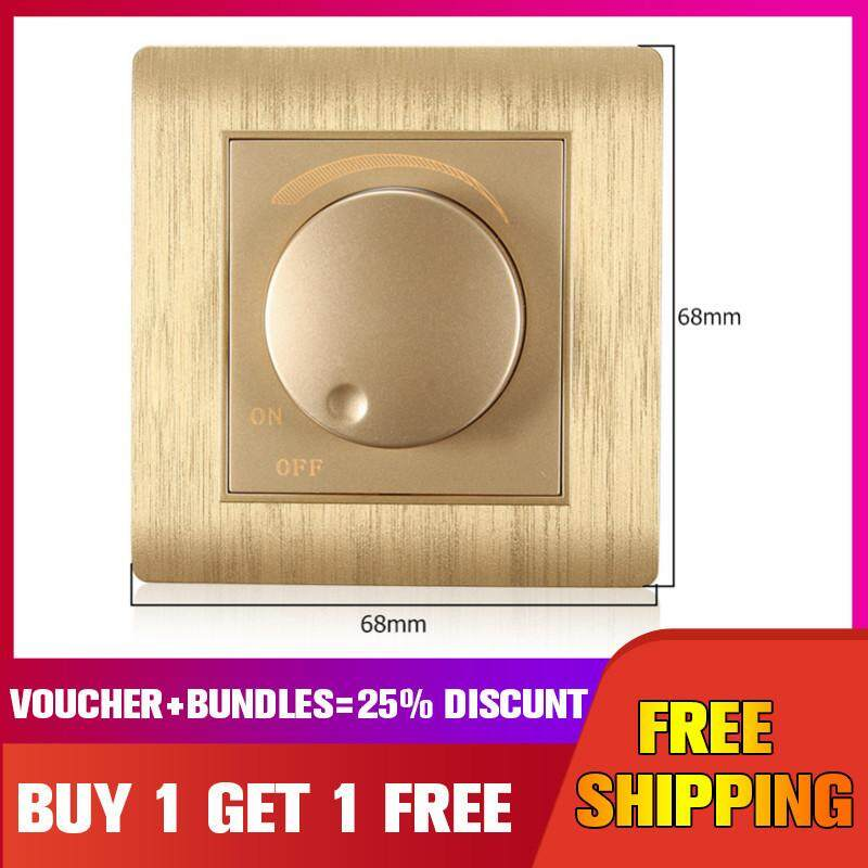 Kempinski 110-250V LED Dimmer Wall Switch Dimmable Light Bulb Gold Adjustable Controller Gold【Buy 1 Get 1 Free】