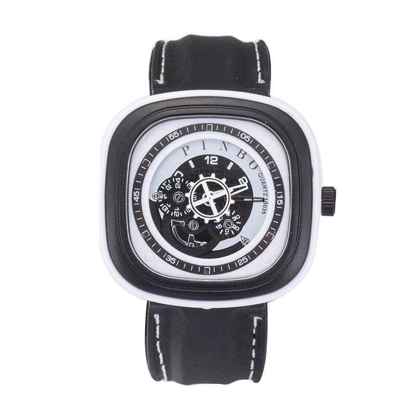 square big dial sport watch for men silicone strap quartz wristwatch Malaysia