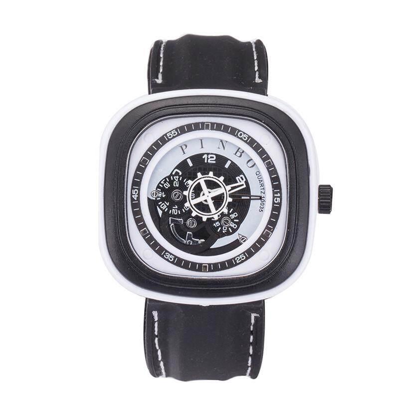 square big dial sport watch for men silicone strap quartz wristwatch Malaysia