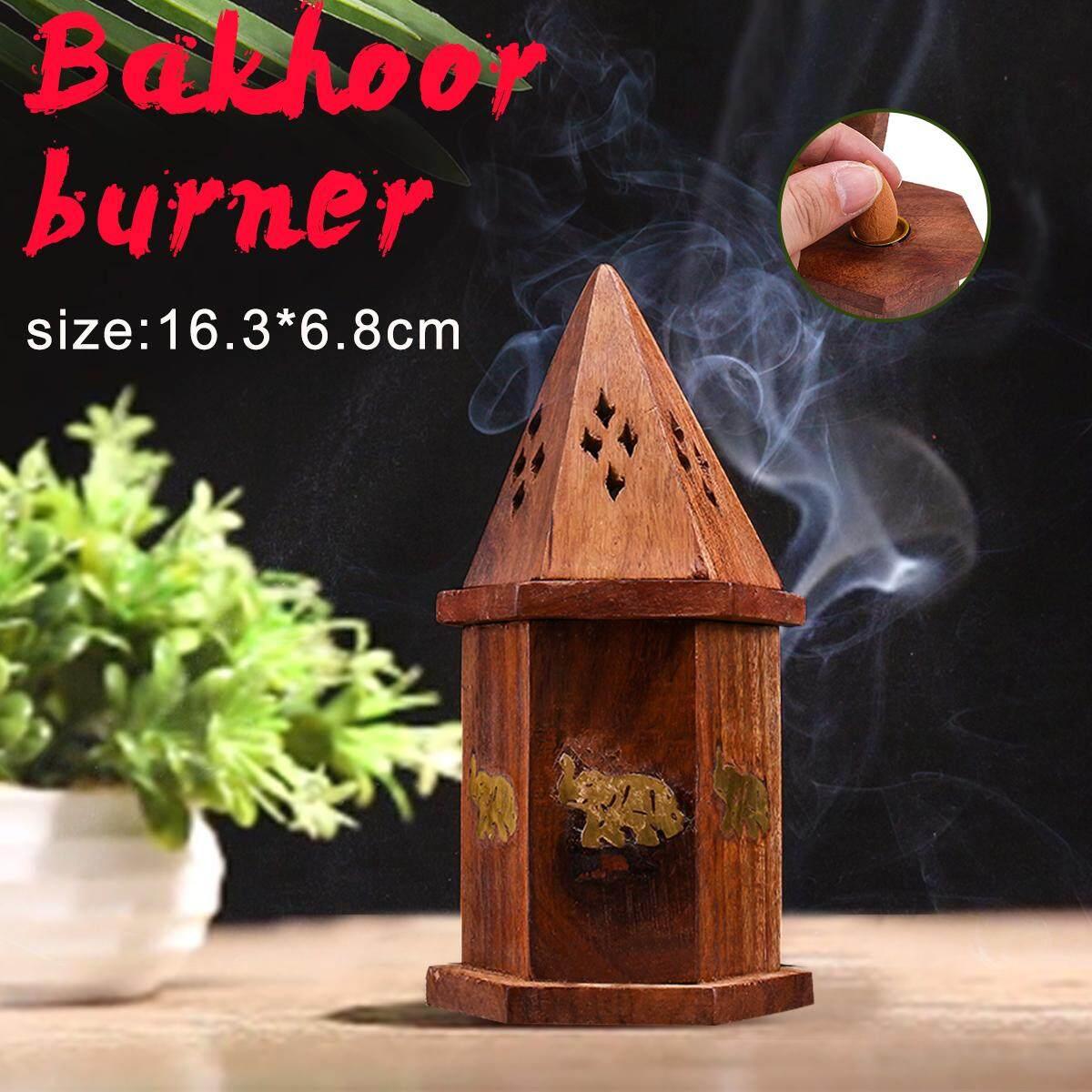 Bakhoor burner Arabic Incense Burner Mabkhara for oud bukhoor traditional wood
