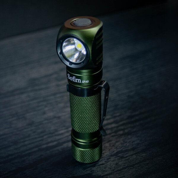 Đèn Sạc LED Đội Đầu Sofirn SP40 XPL Đèn Flash 1200lm Sạc USB 18650 18350 Có Đuôi Nam Châm Chỉ Báo Điện