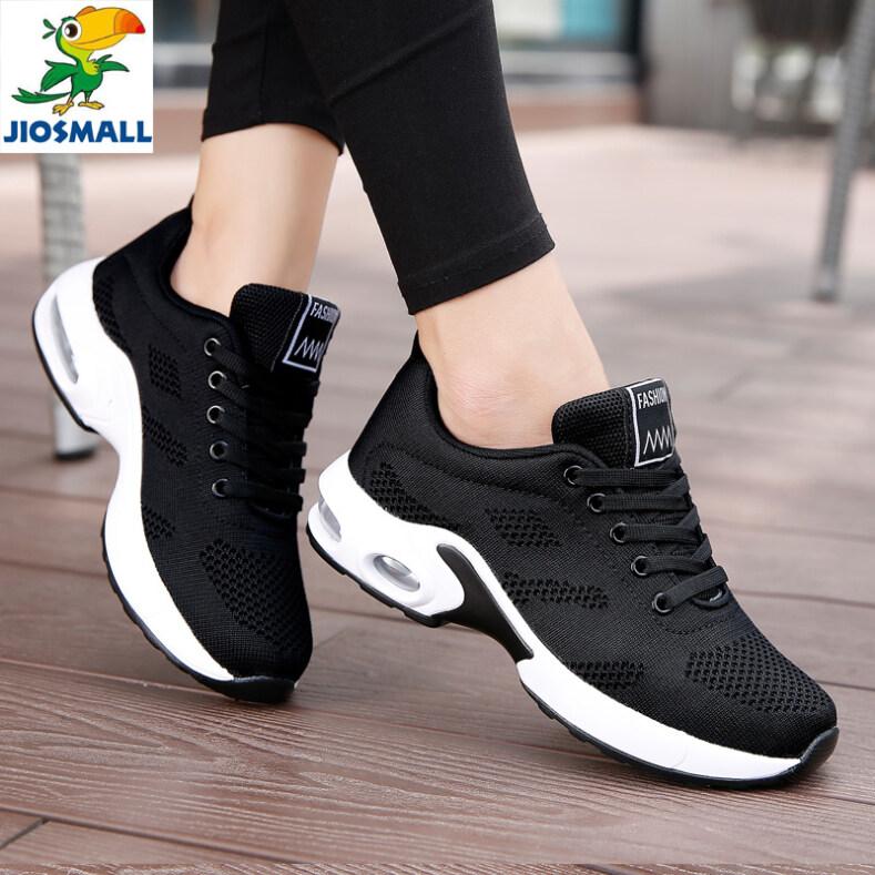JIOS Autumn hot style Flying weaving Dense Mesh air cushion womens sneakers running shoes giá rẻ