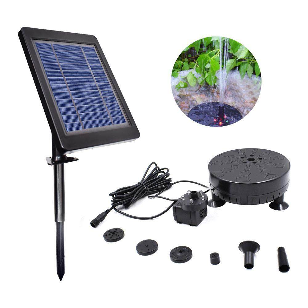 Aolvo 3.5W Solar Fountain Pump With LED Light Floating Fountain Garden Landscape Decoration Outdoor Pool Water Spray