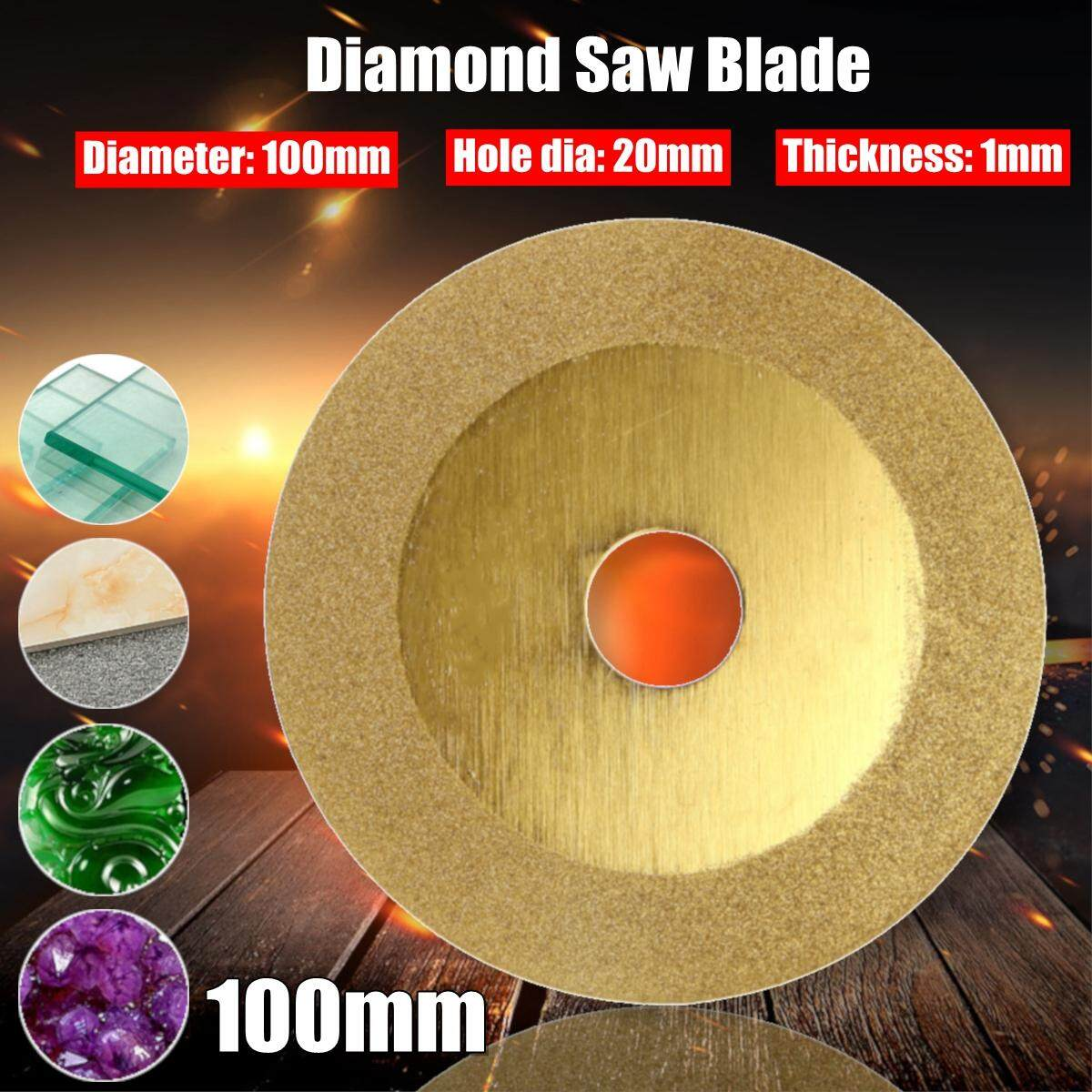 20mm Hole Mini 100mm Diameter Diamond Saw Blade Disc Cutting Wheel for Angle Grinder Cutting Glass Ceramic Granite