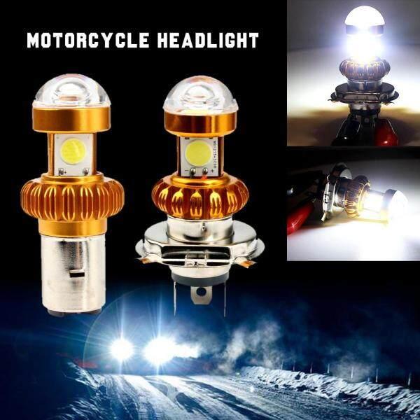 1 Cái H4/BA20D Xe Máy Đèn Pha 3030LED Scooter Ánh Sáng Đèn Moto Phụ Kiện Moto DRL Đèn