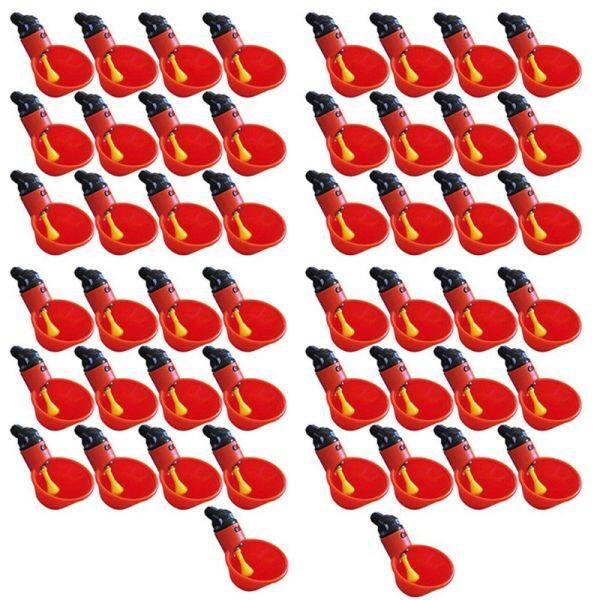 50 Chiếc Cốc Uống Nước Cho Gà Tự Động, Khay Nhựa Đựng Nước Cho Gà, Ly Uống Nước Cho Gia Cầm, Bát Đựng Thức Ăn Trọng Lực Kiểu Phao