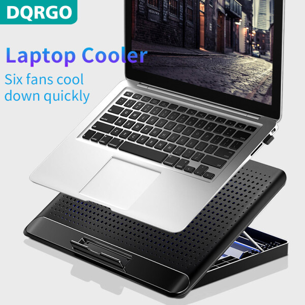 DQRGO laptop cooler, adjustable foldable laptop stand, with fan, for laptop MacBook computer stand, suitable for 12-17 inch laptop Laptop stand with fan Malaysia