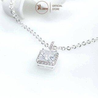 Dây chuyền bạc 925 Thiên kim mặt vuông P3 cao cấp đính đá pha lê sang trọng ANTA Jewlery - ATJ7054 thumbnail