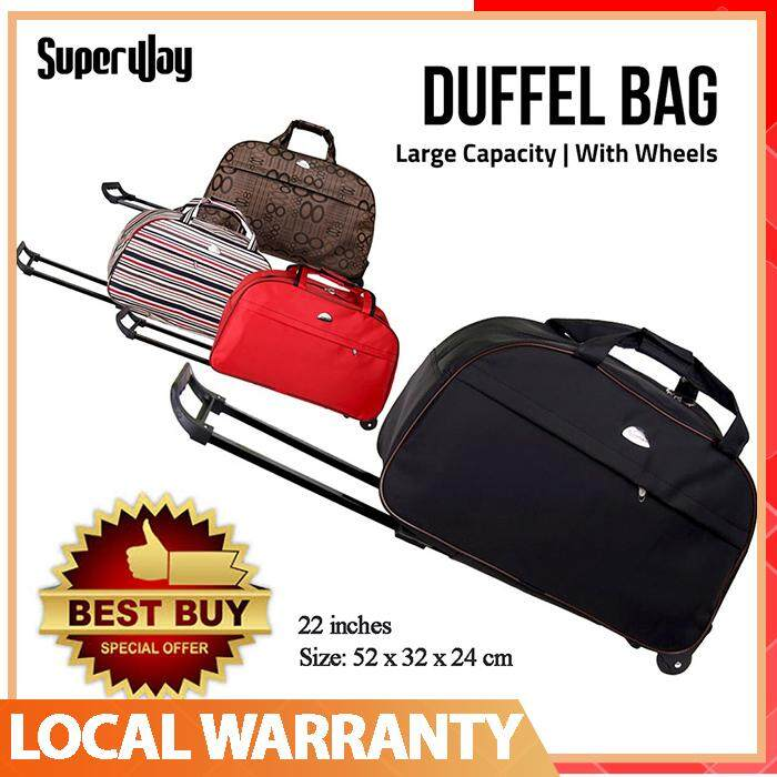 Oxford Waterproof Trolley Duffel Bag Thick Style Suitcase Women&men Travel Bags By Superway.
